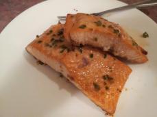 Syrup Glazed Salmon with Jalapeno